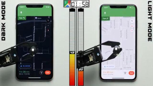 test dark mode na iphone xs