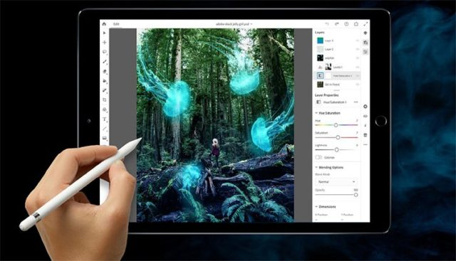 photoshop na ipad pro s apple pencil
