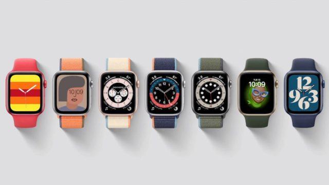 nove ciferniky apple watch 6 a SE