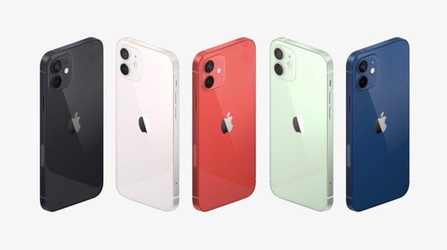 iPhone 12 v 5 barvách